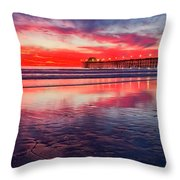 Red Sky Throw Pillow by Julianne Bradford
