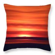 Red Sky Morning Throw Pillow