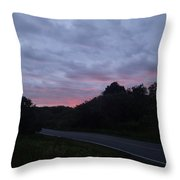Red Sky Road Throw Pillow