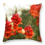Red Snapdragons Throw Pillow