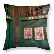 Red Sox Tickets Will Call Throw Pillow