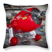 Red Speedster Throw Pillow