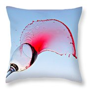 Red Splash Throw Pillow