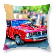 Red Sport Car Throw Pillow