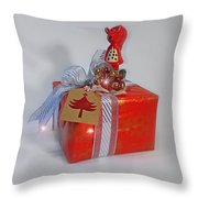 Red Squirrel Gift Throw Pillow