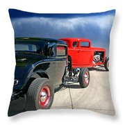 Red Steelies Throw Pillow