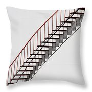 Red Steps On Tank 2 Throw Pillow