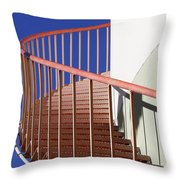 Red Steps On Tank 3 Throw Pillow