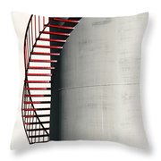 Red Steps On Tank Throw Pillow