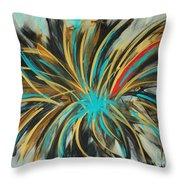 Red Streak Throw Pillow