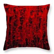 Red Streaks Throw Pillow