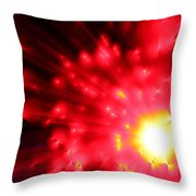 Red Sun Throw Pillow