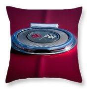Red Sunburst Throw Pillow