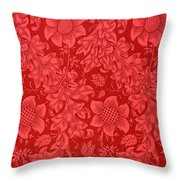 Red Sunflower Wallpaper Design, 1879 Throw Pillow