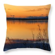 Red Sunset. Valencia Throw Pillow