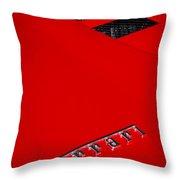 Red Supercar Throw Pillow