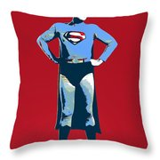 Red Superman Throw Pillow