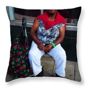 Red Sweater Throw Pillow