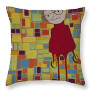 Red Sweater Day Throw Pillow