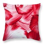 Red Swirls Background Throw Pillow