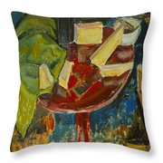 Red Table Top Still Life Throw Pillow