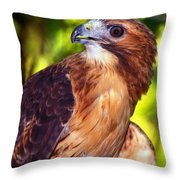 Red Tailed Hawk - 66 Throw Pillow