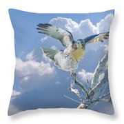 Red-tailed Hawk Pirouette Pose Throw Pillow