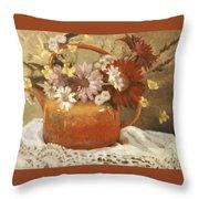 Red Teapot Throw Pillow