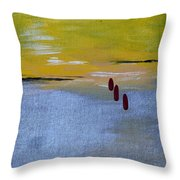 Red Tears Throw Pillow