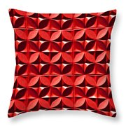 Red Textured Wall Throw Pillow