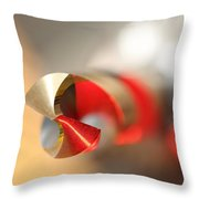 Red Three Quarter Throw Pillow