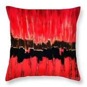 Red Thunder Clash II Throw Pillow