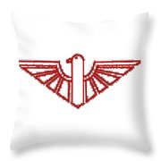Red Thunderbird 1 Throw Pillow