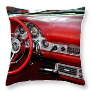 Red Thunderbird Dash Throw Pillow