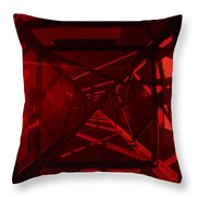 Red Tower Throw Pillow