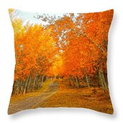 Red Tree Rd Throw Pillow