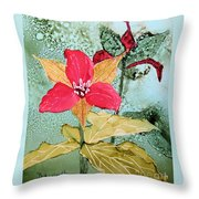 Red Trillium Throw Pillow