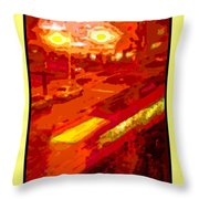 Red Trolley Portland Throw Pillow