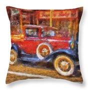 Red Truck Photo Art Throw Pillow