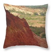red Tsingy landscape Madagascar 2 Throw Pillow