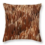 red Tsingy Madagascar 3 Throw Pillow