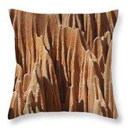 red Tsingy Madagascar 5 Throw Pillow