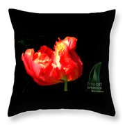 Red Tulip Blurred Throw Pillow