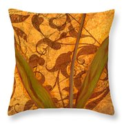 Red Tulip Two Throw Pillow