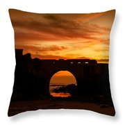 Red Twilight I Throw Pillow