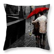 Red Umbrella 2 Throw Pillow