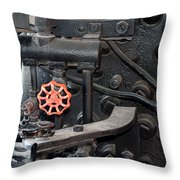 Red Valve S P R R 1673 Throw Pillow