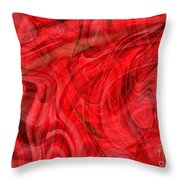 Red Veil Abstract Art Throw Pillow