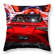 Red Velocity Throw Pillow