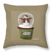 Red Velvet Cupcake Throw Pillow